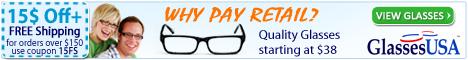 Save up to 70% on Eyeglasses at GlassesUSA