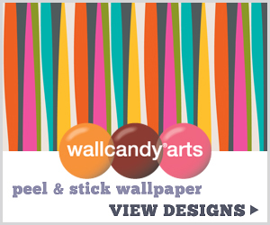 removable, reusable wallpaper from wallcandy arts