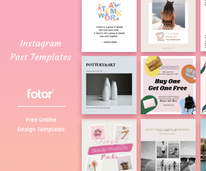 Free Instagram Post Templates. You can place this banner on your website.