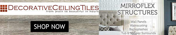 Decorative Ceiling Tiles - From Plain to Beautiful in Hours