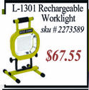 rechargeable work light, solar light