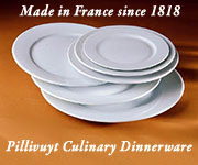 Pillivuyt Culinary Dinnerware made in France since 1818