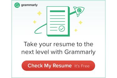 grammar mistake resume