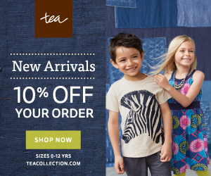 Tea Collection Clothing savings through 9/30/15