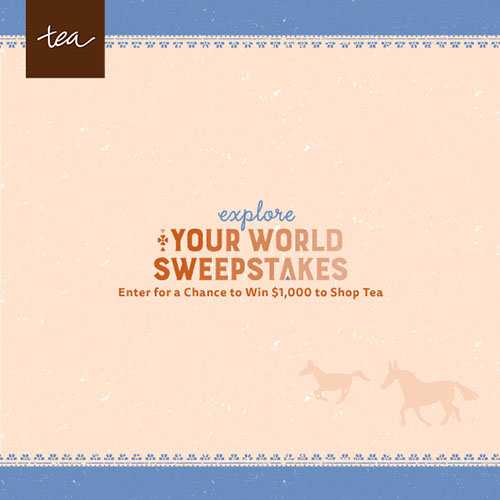 Tea Collection Explore Your World Sweepstakes