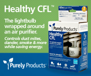 Healthy CFL - the lightbulb wrapped around an air purifier.