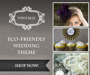 Beautiful eco-friendly vintage wedding products