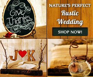 Rustic wedding products
