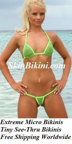 Beach birl in Skin Bikini