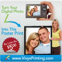 Turn your digital photos into posters - as low as $5.00!