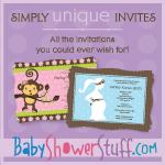 Simply Unique Themes & Invites at BabyShowerStuff.com!