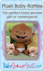 Plush Baby Rattles! The perfect baby shower gift or centerpiece!