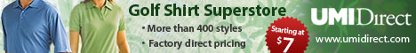 Choose from over 400 golf shirt styles all at factory direct prices!