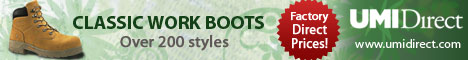 More than 200 styles of brand name work boots @ factory direct prices!