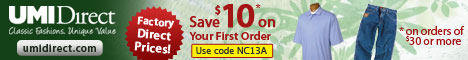$10 off your first order of classic fashion apparel @ factory direct prices!