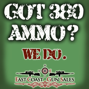 380 Ammo at East Coast Gun Sales