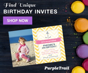 PurpleTrail Birthday Invitations
