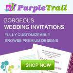 Wedding Invitations from PurpleTrail.com
