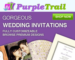Wedding Invitations from PurpleTrail.com