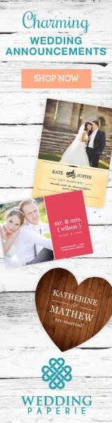 Wedding Announcements by Wedding Paperie