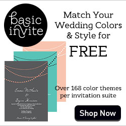 Over 168 Different Colors For Each Invite.