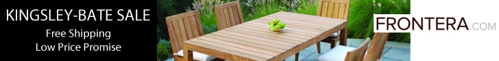 Click Here For Huge Savings on A Wide Selection of Outdoor, Patio and Deck Furniture, Accents, Decor and More from Frontera.com and Support The Garden Oracle with Your Purchases!