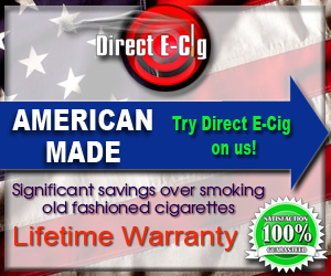 Direct Ecig, American Made E-Liquid.  Try It On Us!