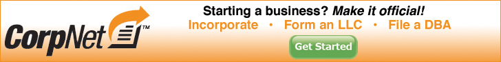 CorpNet is the fastest way to incorporate your business - 728 x 90