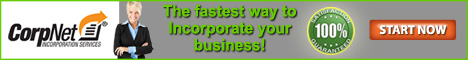 CorpNet® is the Fastest Way to Incorporate your Business
