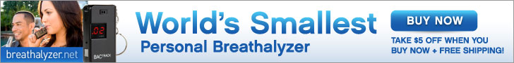 Shop Breathalyzer.net and take  $5 off a keychain breathalyzer