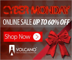 VOLCANO eCigs Cyber Monday Sale Up To 60% Off