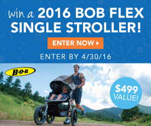 Enter to win a Win a 2016 BOB Flex Single Stroller in Black