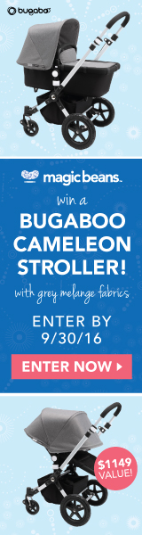 Win a Bugaboo Cameleon Stroller in Aluminum/Black with Grey Melange Tailored Fabric (Value $1149)!