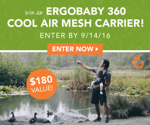 Win an Ergobaby 360 Cool Air Mesh Baby Carrier (value $179.99)!