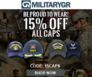 Use Code: 15CAPS at Checkout and Get 15% OFF For All Military Caps