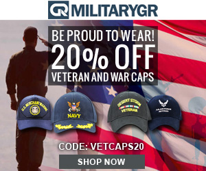 20% OFF All Veteran adn War Caps