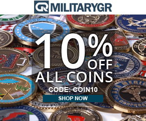 10% OFF For All Military Coins