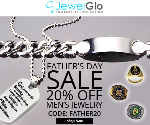 Fathers Day Sale. 20% OFF All Mens Jewelry