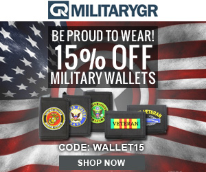 15% OFF All Military Wallets