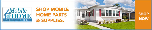 mobile home parts store banner