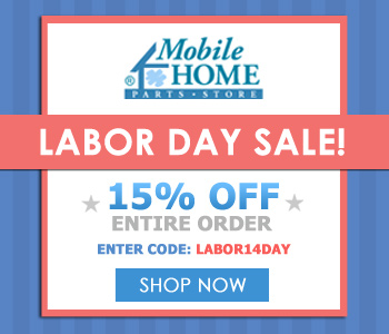 15% off Your Entire Order at MobileHomePartsStore.com! Shop Now!