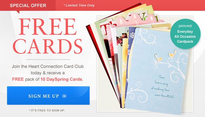 10 Free Cards from DaySpring