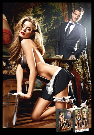 Penthouse Club - Negligee Skirt and Leg Garter Set