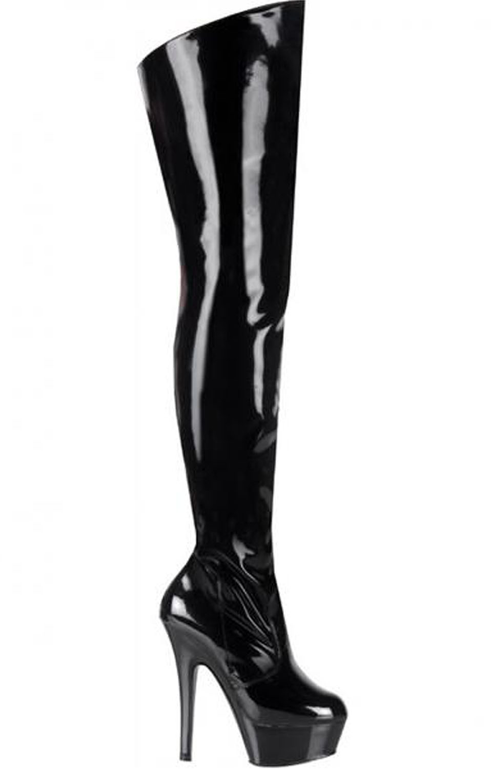 Kiss Black Platform Stiletto Boots Body Body
