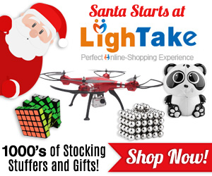 Santa Starts at LighTake.com Holiday Banners