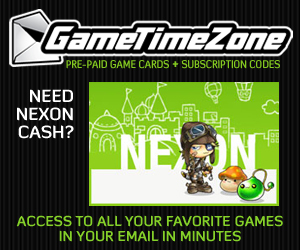 Buy Nexon cash & game cards from Game Time Zone!
