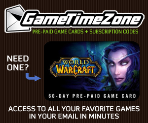 Get World of Warcraft codes from Game Time Zone!
