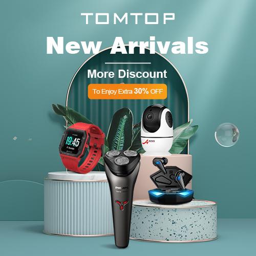 Extra 30% OFF New Arrivals @ tomtop.com