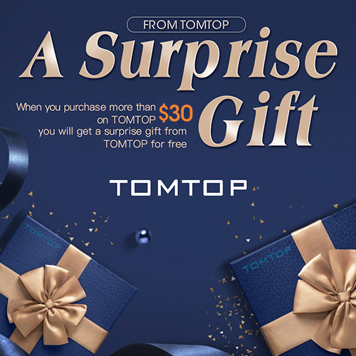 Get A Free Surprise Gift For Orders Over $30 @Tomt