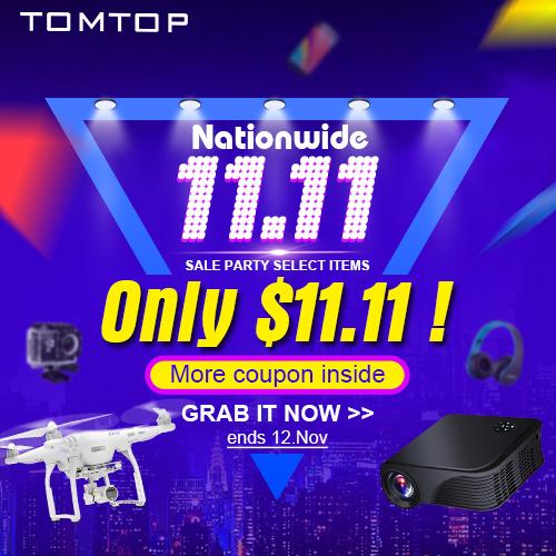 $11.11 Single Day Promotion Flash Sale, Ends: Nov 12